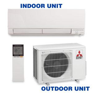 Ductless systems are comprised of a small outdoor unit and one or more indoor units that require nothing more than mounting capabilities and access to electricity.